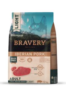 Bravery Iberian Pork LIGHT Adult Large/Medium Breeds 12 kg kutyatáp