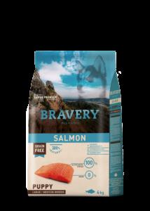 Bravery Salmon Puppy Large/Medium Breeds 4 kg kutyatáp