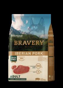 Bravery Iberian Pork Adult Large/Medium Breeds 4 kg kutyatáp