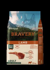 Bravery Lamb Adult Large/Medium Breeds 12 kg kutyatáp