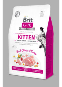 BRIT Care Cat KITTEN csirke-pulyka 400 g