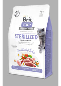 BRIT Care Cat STERILIZED WEIGHT CONTROL kacsa 400 g