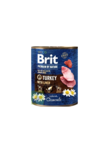 Brit Pr By Nature Turkey with Liver 800 g