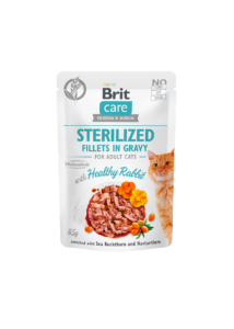 Brit Care Cat Sterilized. Fillets in Gravy with Healthy Rabbit 85 g