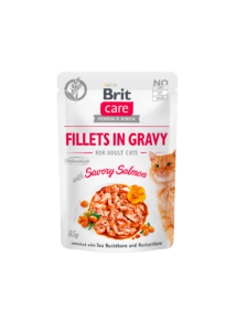 Brit Care Cat Fillets in Gravy with Savory Salmon 85 g