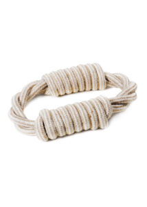 Record Natural cotton kutyajáték juta kötélgyűrű 18 cm