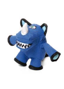 RECORD Monster kutyajáték plüss rinocérosz 18cm