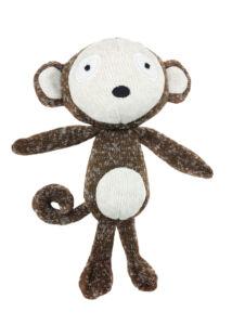Record SOFTY kutyajáték puha pamut majom 19 cm