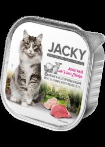 Jacky alutálka pástétom borjú-csirke 100 g felnőtt macskáknak