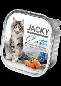 Jacky alutálka pástétom lazac 100g felnőtt macskáknak