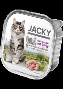 Jacky alutálka ragu pulyka 100g felnőtt macskáknak