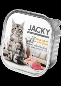 Jacky alutálka ragu szárnyas-borjú 100g junior macskáknak