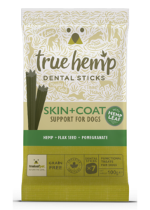 True Hemp Dog Dental Sticks Skin+Coat 100g