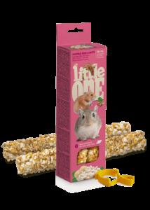 Little One Dupla Rúd  Kisemlősöknek puffasztott rizzsel és mogyoróval 2x55 g