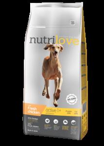 Nutrilove Friss csirke 12 kg Adult Active