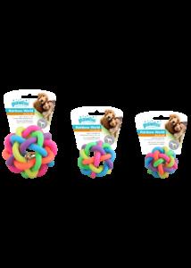 PAWISE Kutyajáték Rainbow Fogtisztító Labda L