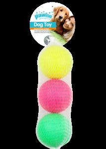 Pawise kutyajáték Neon szivacslabdák 3 db-os