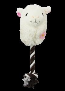 Pawise kutyajáték textil lama kötéllel 26 cm