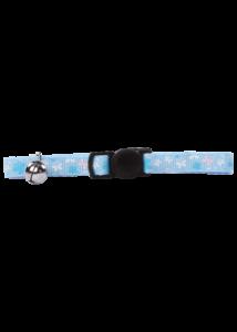 PAWISE Macska Nyakörv Biztonsági Csattal Kék Pillangós