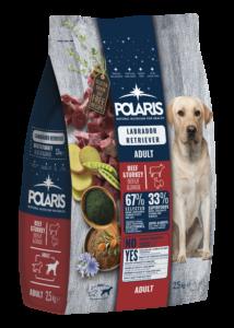 POLARIS  2.5 kg Labrador marha-pulyka  (2 db) + ajándék Shelma 750 g (5 db)