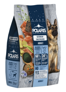 POLARIS 2.5 kg Németjuhász lazac-pulyka  (2 db) + ajándék Shelma 750 g (5 db)