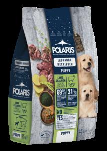 POLARIS 2.5 kg Junior Labrador bárány-lazac  (2 db) + ajándék Shelma 750 g (5 db)