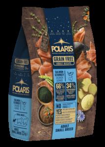 POLARIS 2.5 kg Small lazac-pulyka  (2 db) + ajándék Shelma 750 g (5 db)