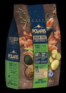 POLARIS 2.5 kg Small lazac-bárány  (2 db) + ajándék Shelma 750 g (5 db)