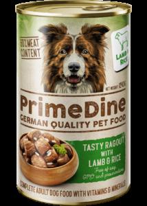 Primedine bárány-rizs 1240 g kutya konzerv