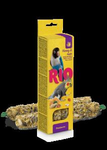 RIO Dupla Rúd Kiegészítő madáreleség mézzel és mogyoróval nagy papagájoknak 2x75 g