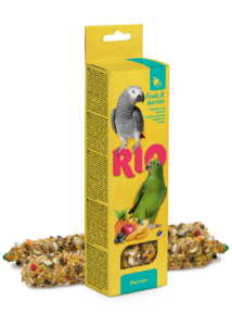 RIO Dupla Rúd Kiegészítő Madáreleség Bogyós Gyümölcsökkel Óriás Papagájoknak 2x90 g