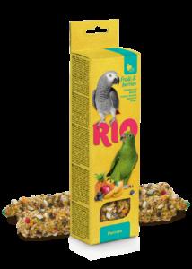 RIO Dupla Rúd Kiegészítő madáreleség bogyós byümölcsökkel óriás papagájoknak 2x90 g