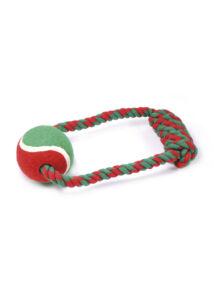 RECORD Karácsonyi Kutyajáték Köteles Teniszlabda 20 cm