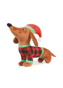 RECORD Karácsonyi Kutyajáték Plüss Kutya 30 cm