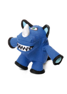 Record Monster kutyajáték plüss rinocérosz 18 cm
