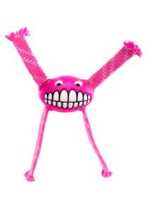 "Rogz FLOSSY GRINZ ""M"" 21 cm Pink kutyajáték"
