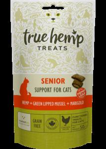 True Hemp Senior Cat treats - jutalomfalat macskáknak - idős macskáknak - 50 g