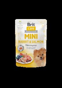Brit Care Mini Rabbit & Salmon fillets in gravy 85g
