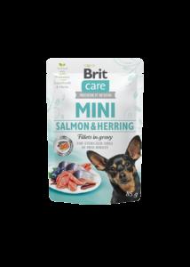 Brit Care Mini Salmon & Herring sterilised fillets in gravy  85g