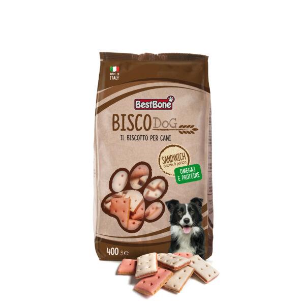 BISCODog Kutyakeksz Húsos és Halas 400g