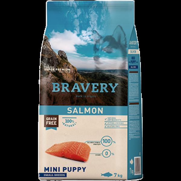 Bravery Salmon Mini Puppy Small Breeds 7 kg kutyatáp