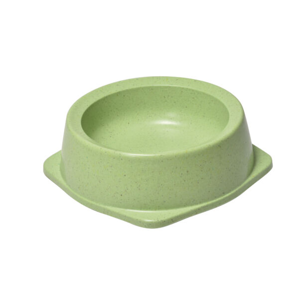 RECORD BAMBOO Bambusz-műanyag etetőtál Zöld 12,3*12.3*4 cm 130 ml