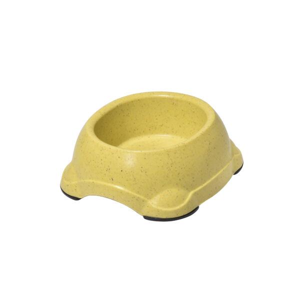 RECORD BAMBOO Bambusz-műanyag etetőtál Sárga 16*14*7.3 cm 550 ml