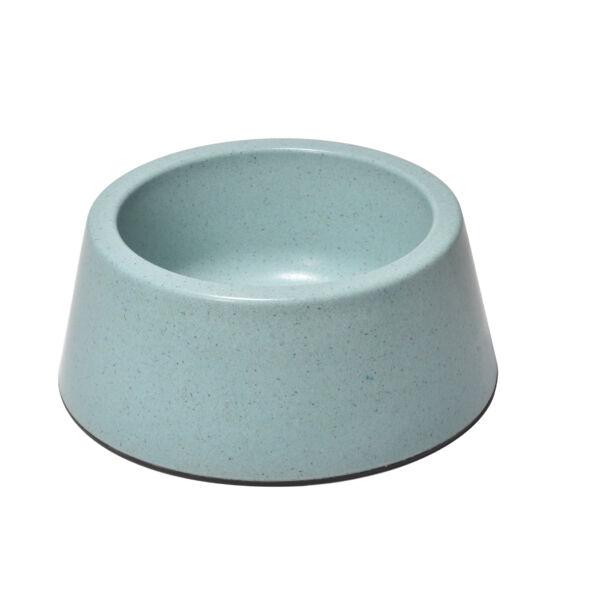 RECORD BAMBOO Bambusz-műanyag etetőtál Türkizkék 18.5*22*8.5 cm 950 ml