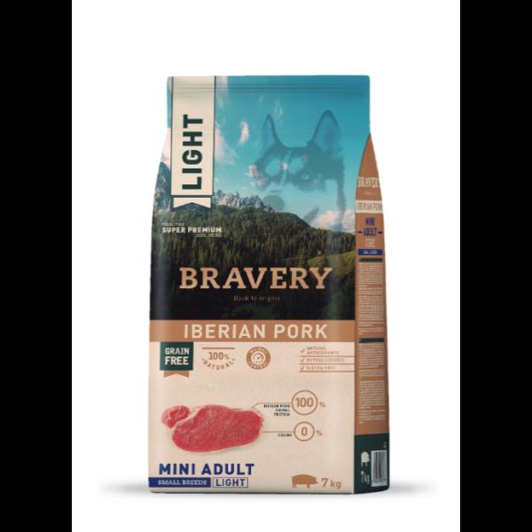 Bravery Iberian Pork LIGHT Mini Adult Small Breeds 7 kg kutyatáp