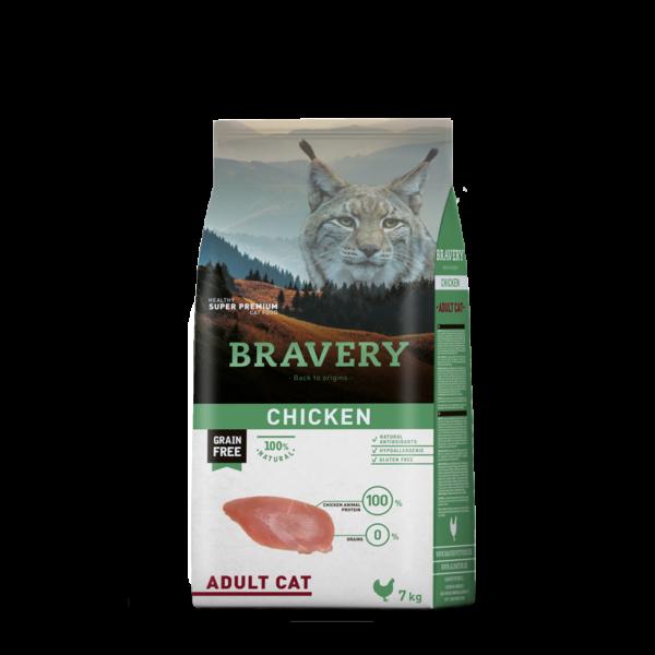 Bravery Cat Chicken Adult 7 kg macskatáp