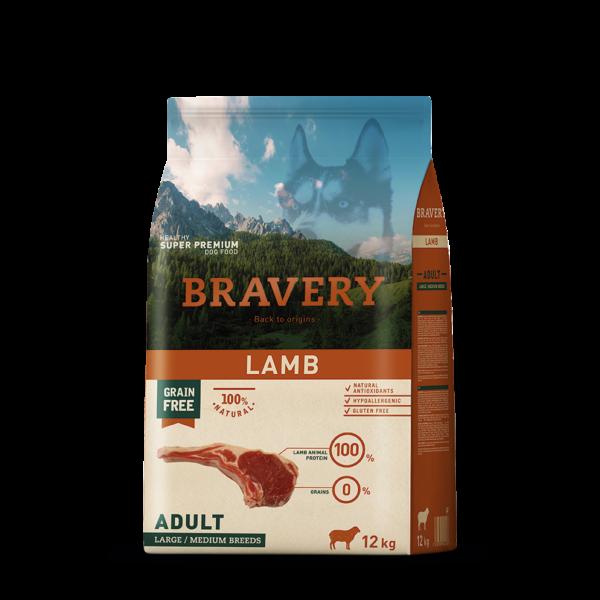 Bravery Lamb Adult Large/Medium Breeds 4 kg kutyatáp