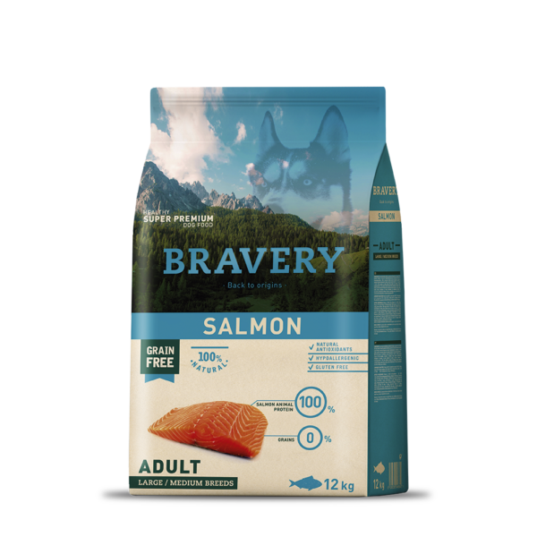 Bravery Salmon Adult Large/Medium Breeds 12 kg kutyatáp