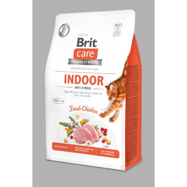 BRITCare Cat INDOOR ANTI-STRESS csirke 400 g