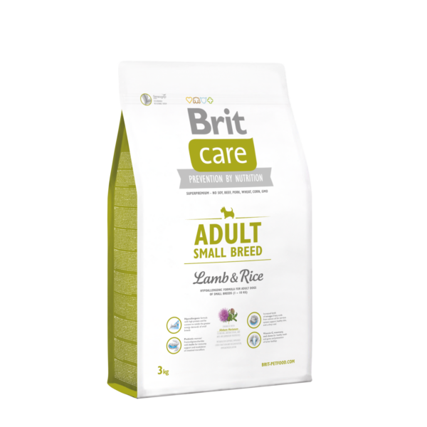 Brit Care Adult Small bárány-rizs 3 kg